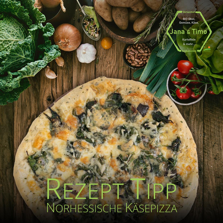 Read more about the article Rezept Tipp: Nordhessische Käsepizza | vegetarisch – auf Wunsch
