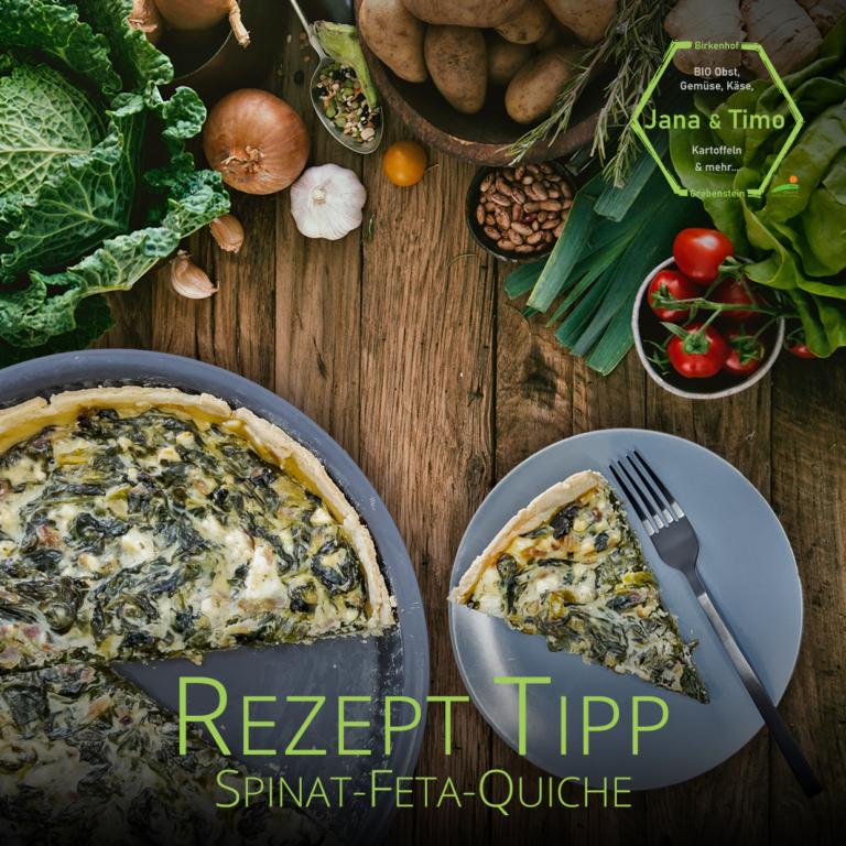 Rezept Tipp: Quiche mit Spinat & Feta | vegetarisch