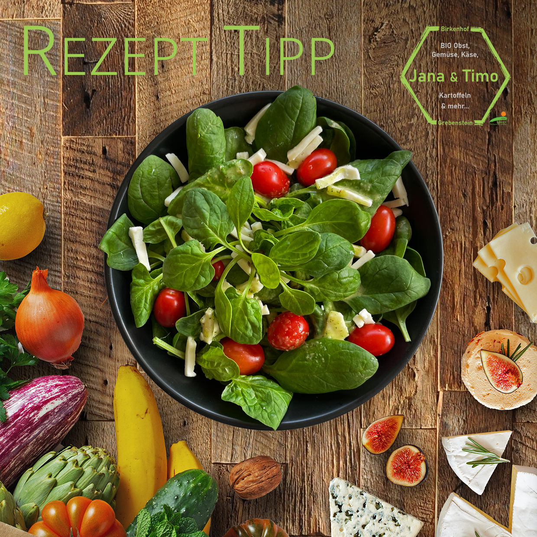 Read more about the article Rezept Tipp: Babyspinat-Salat mit Mozzarella & Thymian | vegetarisch