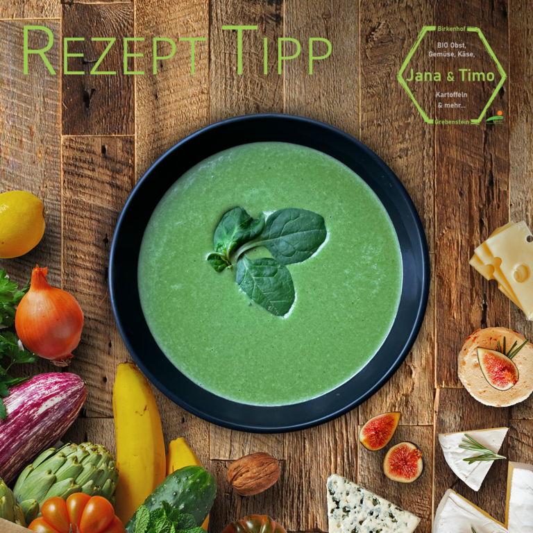 Read more about the article Rezept Tipp: Babyspinat-Suppe mit Gorgonzola | vegetarisch