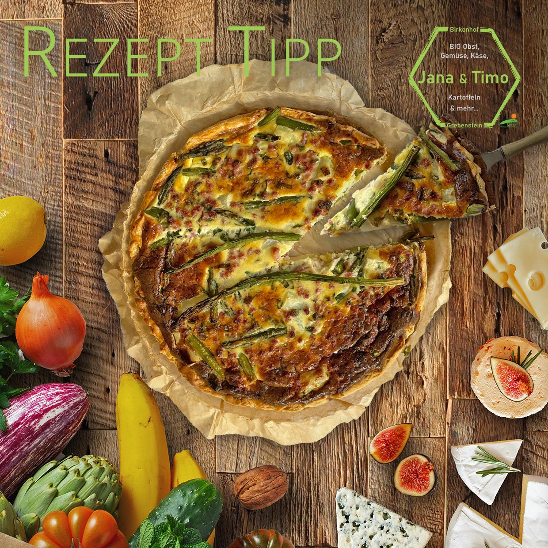 Rezept Tipp: Spargel-Quiche – Mit Parmesan und Bärlauch | vegetarisch