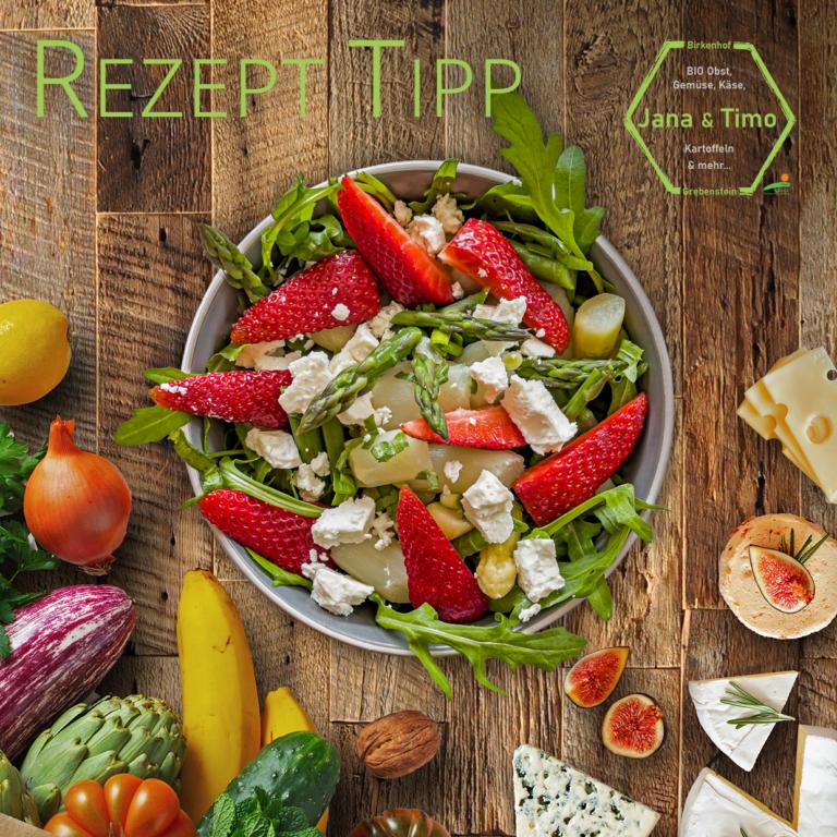 Read more about the article Rezept Tipp: Spargelsalat – mit Erdbeeren & Feta | vegetarisch